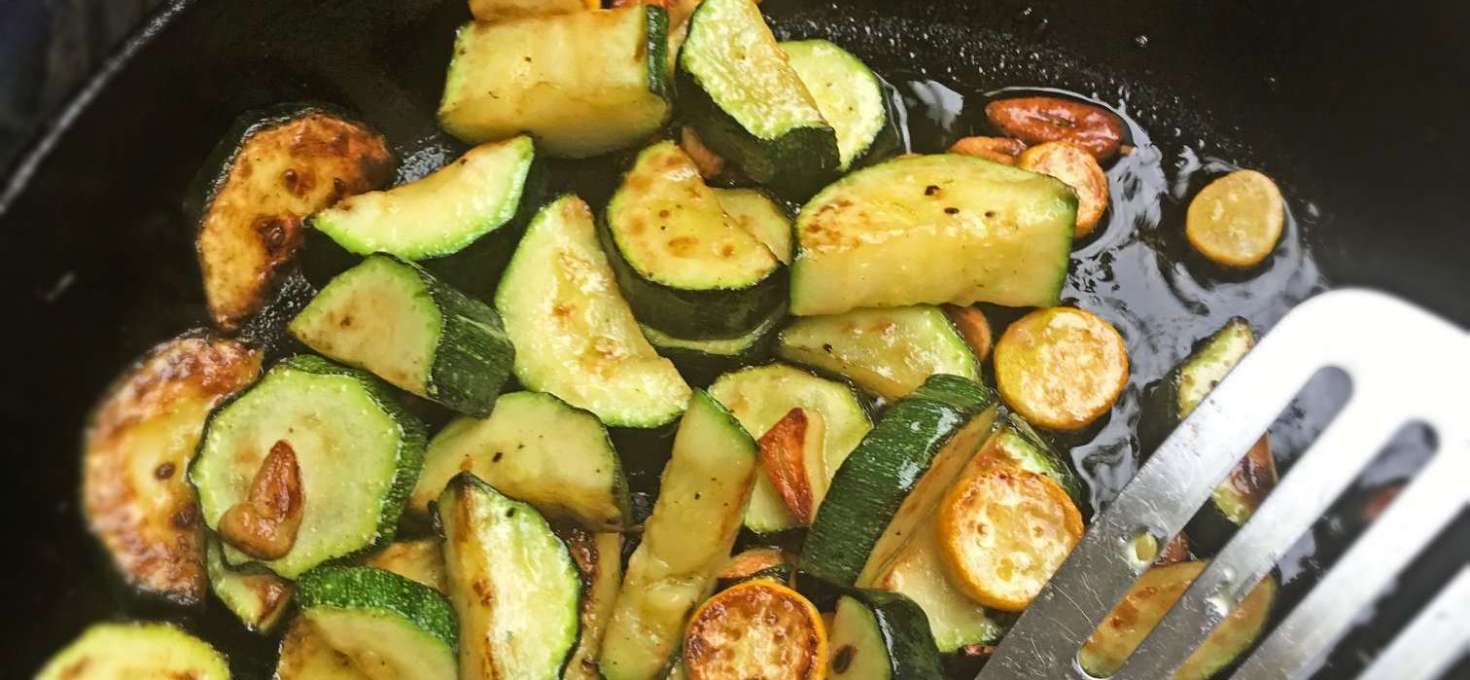 Courgettes with Burnt Garlic