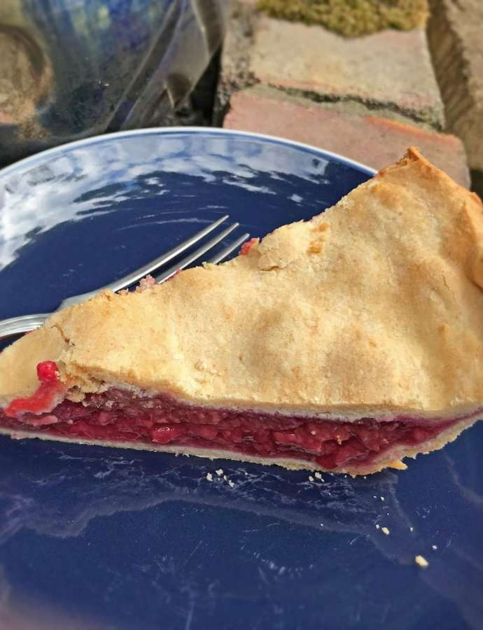 Vegan Pastry Raspberry and Red Currant Pie