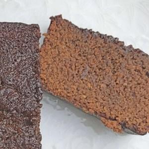 Vegan Ginger Loaf Cake Slice