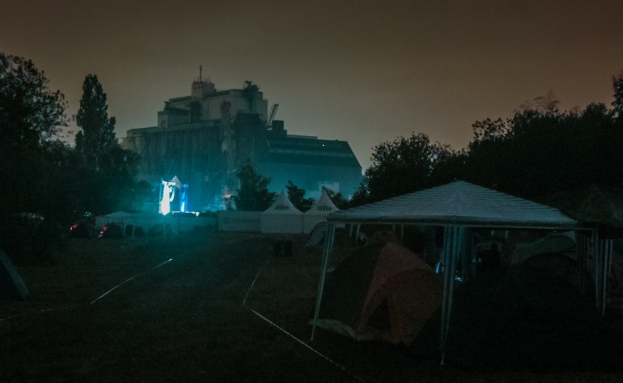 Campingplatz auf dem MS Dockville Festival 2010