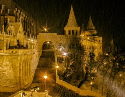 Die Fischerbastei in Budapest im Winter 2010