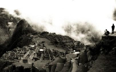Machu Picchu Schwarz Weiss