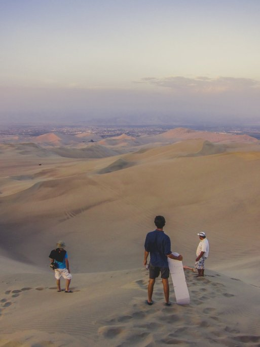Sandboarding in Huacachina