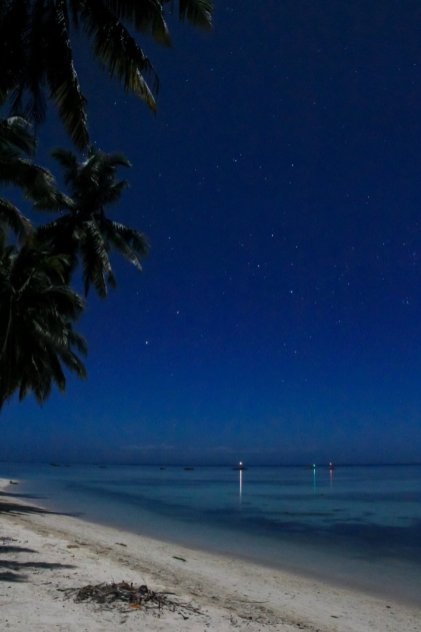 Nachts am Strand von Siquijor