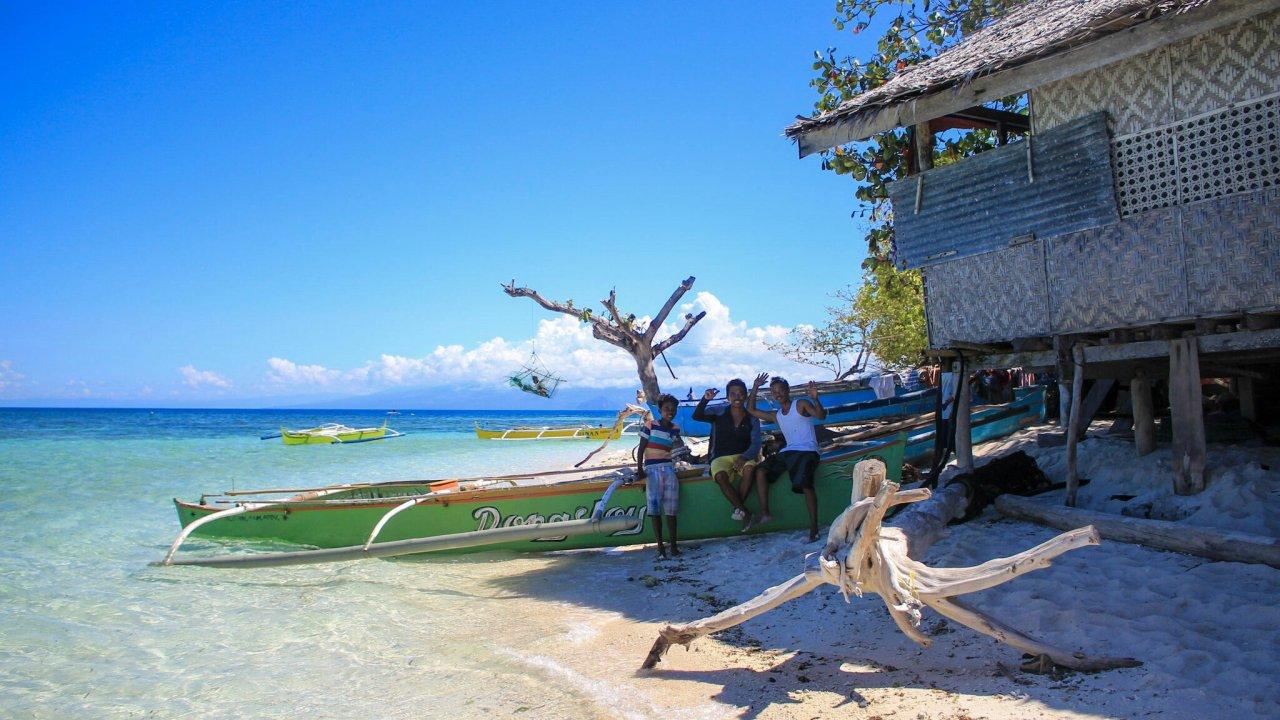 Kids auf Magsaysay Island