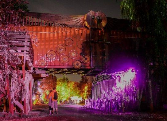 Gelände vom MS Artville 2014 in der Nacht