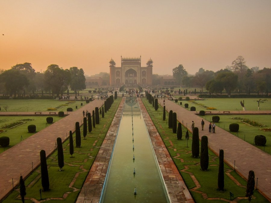 Garten vom Taj Mahal