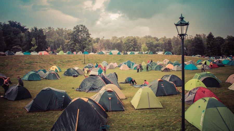 Campingplatz auf dem Colours of Ostrava Festival 2016