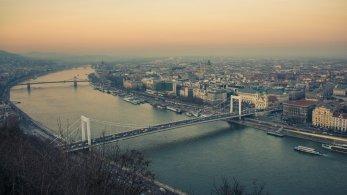 Blick auf Budapest von der Zitadelle
