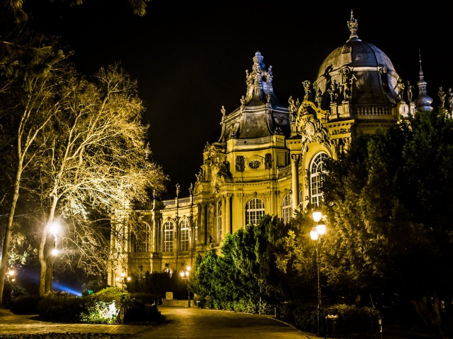 Burg Vajdahunyad im Stadtwäldchen von Budapest