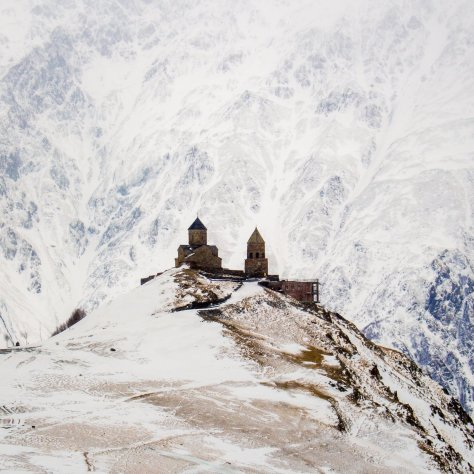 Kazbegi im Winter