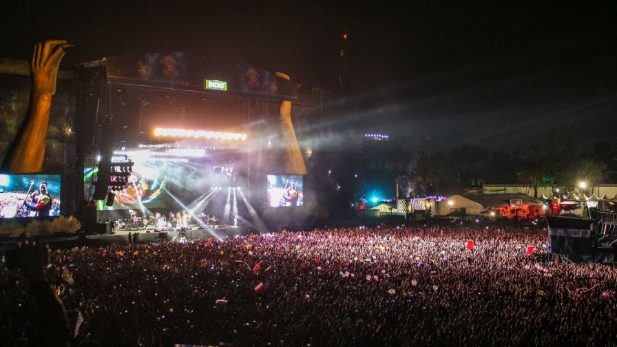 Caligaris live auf dem Vive Latino Festival