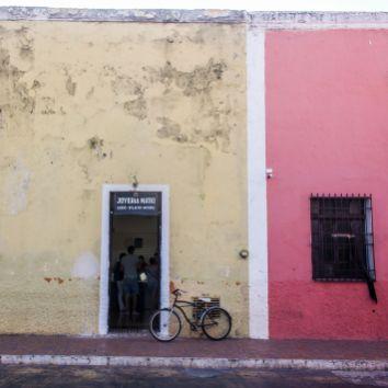 Bunte Hausfassaden in Campeche