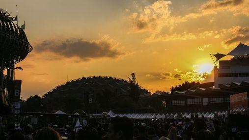 Sonnenuntergang Festivalgelände Vive Latino Festival