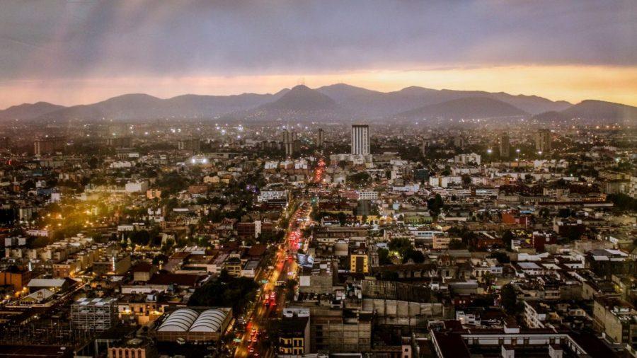 Blick auf Mexico City