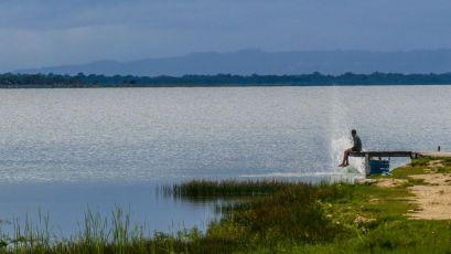 Schwimmen im Lago Petén Itza