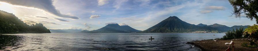 Panorama vom Lago de Atitlan