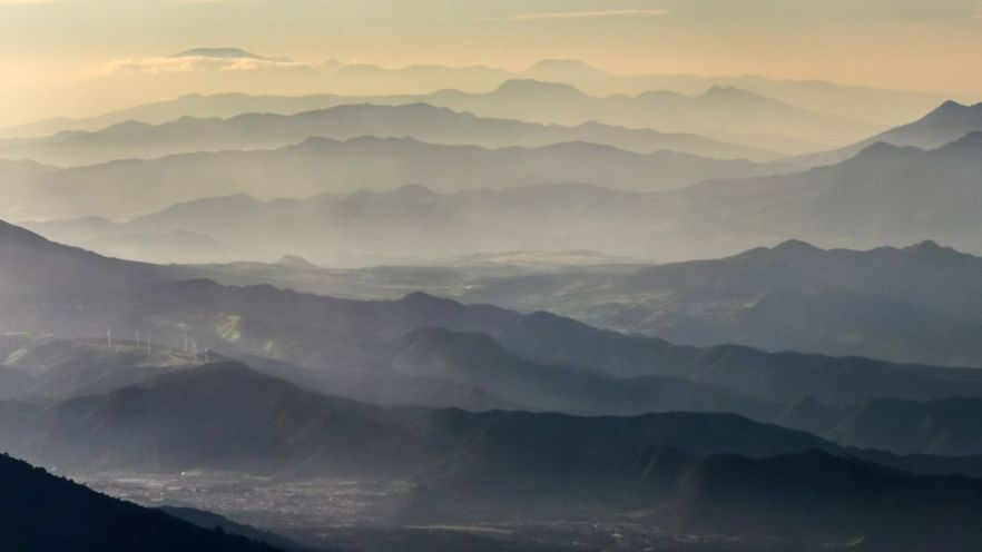 Blick auf die Nachbarberge vom Acatenango