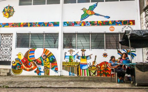 Murals ins La Palma, El Salvador