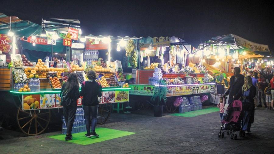 Getränkehändler in Marrakesch