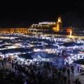 Djeema el Fna in der Nacht