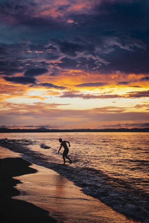 Sonnenuntergang am Punta Jesús Maria.