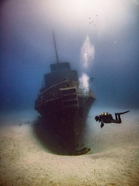 Wrack vom Tugboat Rozi vor Malta