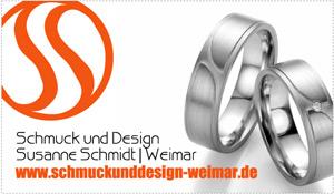 Schmuck  Design Susanne Schmidt aus Weimar  Trauringe  Eheringe