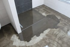 Fußboden Bad - Vorher