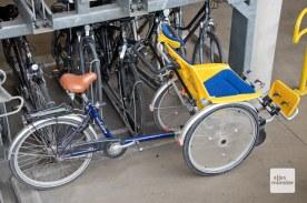 """Die Radstation verleiht nicht nur """"normale"""" Fahrräder mit und ohne Elektrounterstützung, auch solche Spezialräder zum Transport von Menschen mit Einschränkungen sind ausleihbar. (Foto: Michael Bührke)"""