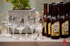 Professioneller Auftritt des neuen Biers. (Foto: Michael Bührke)