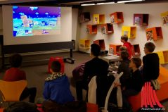 Auch interaktive Games waren Teil der Nacht der Bibliotheken. (Foto: ka)