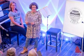 Marion Lohoff-Börger während ihrer Lesung.(Foto: Michael Bührke)