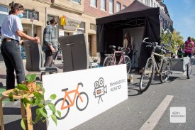 """Beim """"Fahrradkino Münster"""" sorgen die Zuschauer per Dynamo dafür, dass der Film läuft."""