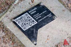"""QR-Code für die """"Skulp.Tour App."""" (Foto: Michael Bührke)"""