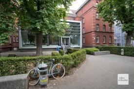 Die auffällige Fassade der Münster School of Architecture auf dem Leonardo Campus. (Foto: Bührke)