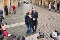 Wenn die Tatort-Stars in Münster auftauchen, ist der Medienrummel vorprogrammiert