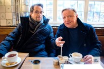 Jan Josef Liefers (l.) und Axel Prahl (r.) beim ALLES MÜNSTER Interview