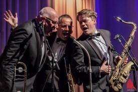 Nicht nur ihre Blasinstrumente beherrschen die drei Musiker. (Foto: sg)
