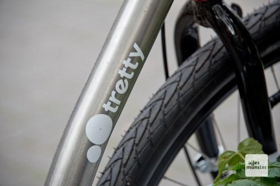 Der Rahmen ist aus Stahl und die Reifen nahezu unplattbar, so soll der tretty robust und langlebig sein. (Foto: Michael Bührke)