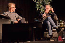 Tobias Viehoff (l.) und Jens Schneiderheinze während ihres Talkgespräches. (Foto: Michael Bührke)