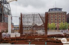 Die Baustelle zwischen Hansaring und Hafen. (Foto: Katja Angenent)