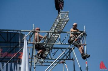 Arbeiten in luftiger Höhe. (Foto: th)