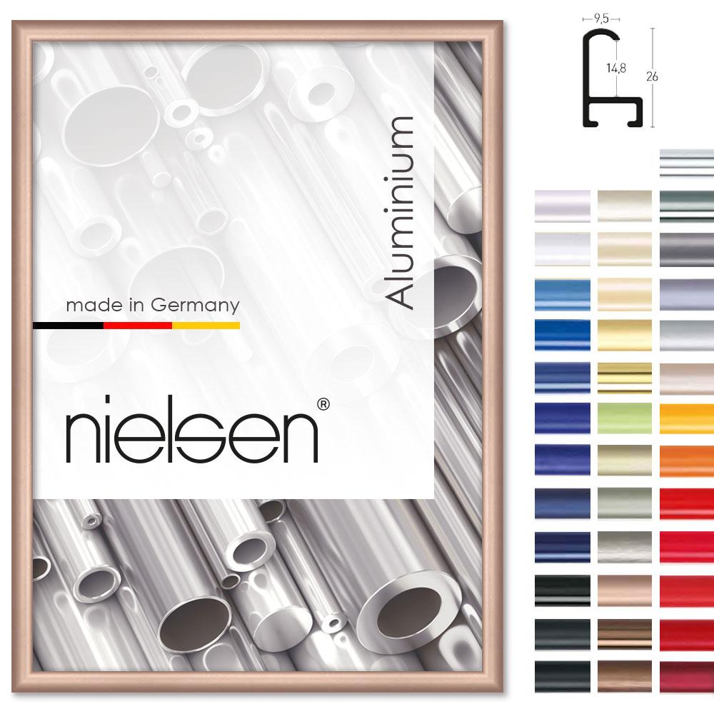 Nielsen Alurahmen Sonderzuschnitt, Profil 15 Gold | Allesrahmen.De