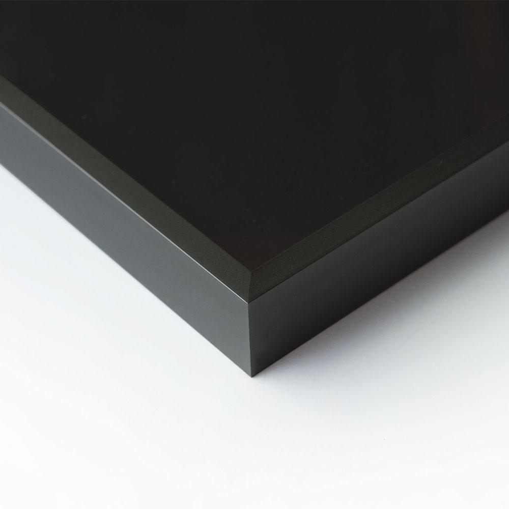 Nielsen Alurahmen Profil Alpha 60X80 Cm - Eloxal Schwarz Matt