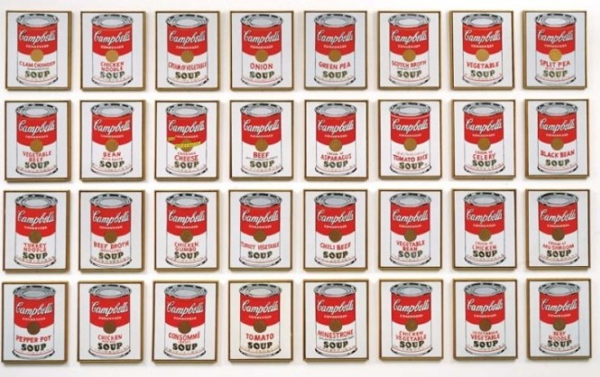 Campbells Soup Cans - TOP 10 MOST FAMOUS WORKS BY ANDY WARHOL