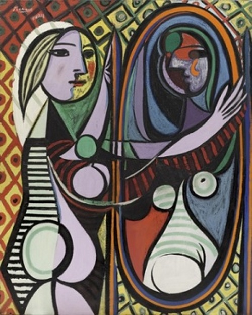Girl Before a Mirror - TOP 10 MOST FAMOUS ICONIC PAINTINGS BY PABLO PICASSO
