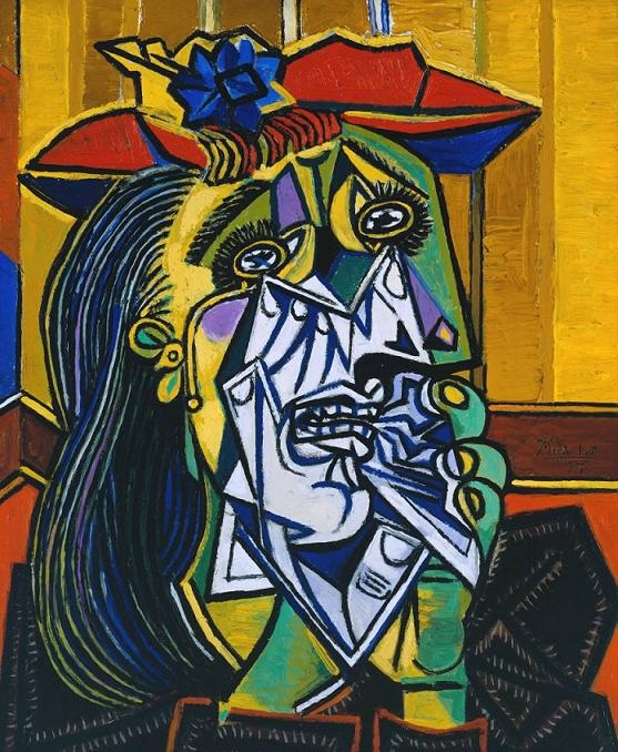 The Weeping Woman - TOP 10 MOST FAMOUS ICONIC PAINTINGS BY PABLO PICASSO