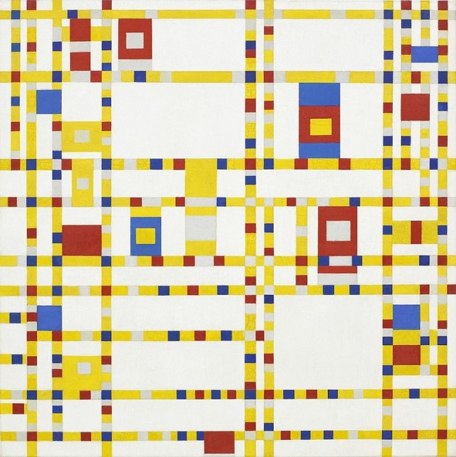Broadway Boogie Woogie - TOP 10 MOST FAMOUS PAINTINGS BY PIET MONDRIAAN