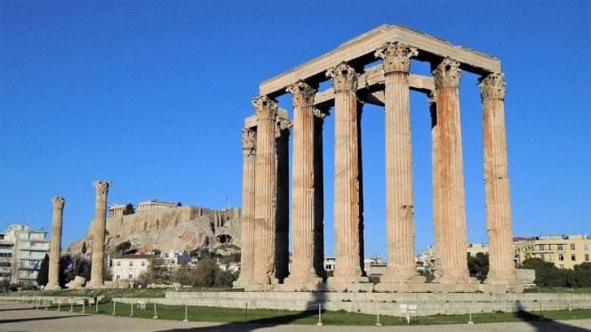 Ru%C3%AFnes Olympieion Tempel van Zeus - TOP 10 BEST AND MOST FAMOUS ATTRACTIONS IN ATHENE GREECE